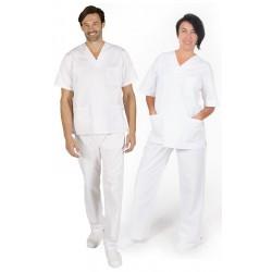 Conjunto Sanitario Blanco Garys Uniforme 8411 blanco