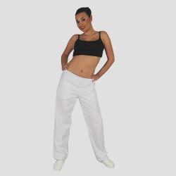 Pantalon Blanco Cintura Goma 8866