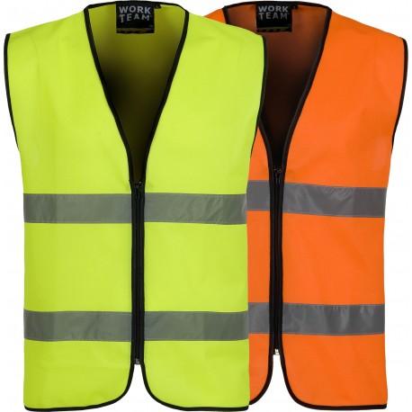 Comprar Chaleco De Alta Visibilidad Reflectante Workteam Online Tienda Madrid Tallas Letras M Color Amarillo Fluor