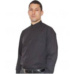 Camisa Cuello Mao Negra 102L