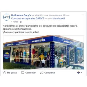 Concurso escaparates Uniformes Gary's Tienda Laboral
