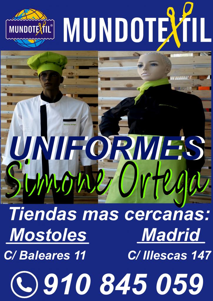 Ofertas Uniformes Cocina y Camareros Simone Ortega