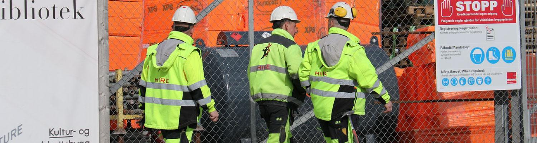 uniformes de construcción